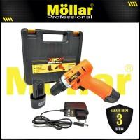 XENON CDD500 Mesin Bor Cas Charger 12V Cordless Drill 2 Baterai
