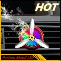 Parfum Mobil Baling-Baling LED / Kipas Parfum Mobil