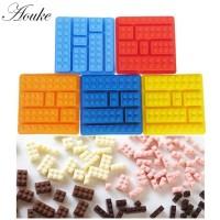 1 Pcs Lego Blocks Berbentuk Persegi Panjang DIY Cetakan Silikon Es