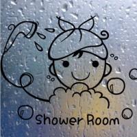Lucu Stiker Dinding Kamar Mandi Kaca Pintu Stiker Lucu Anak Gadis