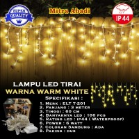 Lampu Natal Tirai LED Warm White