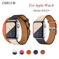 Tali Kulit untuk Apple Watch 4 Band 44 Mm 40 Mm Gelang Jam IWatch