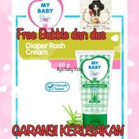 My Baby Diaper Rash Cream 50gr Krim Ruam Popok Bayi Aloe Vera + BUBBLE