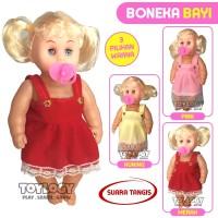 Mainan Anak Perempuan Boneka Bayi Belle Baby Girl Doll Suara Tangis