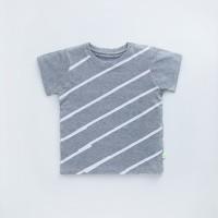HEYTIMMY Tshirt Kaos Anak warna Abu-abu motif Stripe