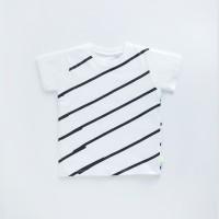 HEYTIMMY Tshirt Kaos Anak warna putih motif Stripe