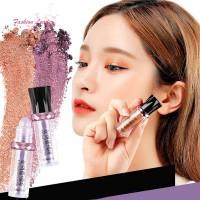 Bubuk Eyeshadow Isi Pigmen Glitter Tekstur Glossy untuk Makeup Wanita