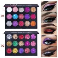 FL Palet Eyeshadow 15 Warna Glitter Anti Air