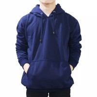 jaket hoodie navy polos / sweater polos navy