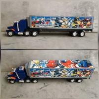 mainan truk kontainer - mobil trailer anak edukatif - truck edukasi