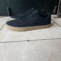 Sepatu nike sb check black ori