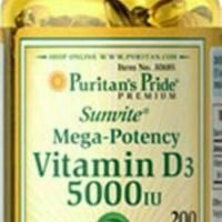 Puritans Pride Vitamin D3 5000IU Isi 200softgel
