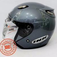 Helm INK Centro SNI warna Abu Abu Grey - bukan KYT - NHK - Bogo - Anak