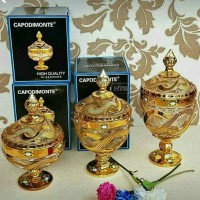 Toples Capodimonte 3 Set (Golden Flower)