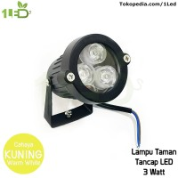 Lampu sorot LED outdoor 3W Kuning tahan air weatherproof 3 W Watt