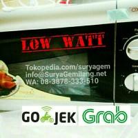 Oxone Low Watt OX88 Microwave Oven Watt Kecil Body Silver Asli, Baru