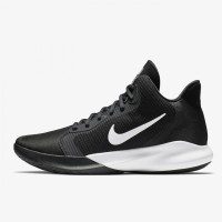 Sepatu Basket Nike Precision 3 Black White Original AQ7495-002