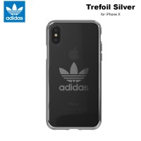 Case iPhone X Adidas Originals Trefoil Clear Soft Case - Silver