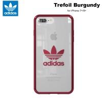 Adidas Originals Trefoil Clear Case iPhone 8+ - Burgundy
