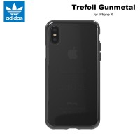 Case iPhone X Adidas Originals Trefoil Clear Soft Case - Gunmetal