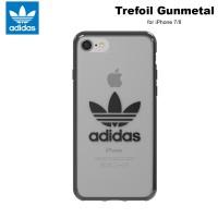 Case iPhone 7 / 8 Adidas Originals Trefoil Clear Soft Case - Gunmetal