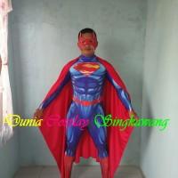 Kostum Cosplay Superman Dewasa Man Of Steel - Kostum Justice League