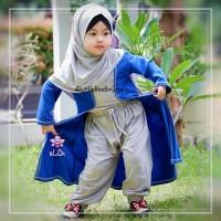 Gisela Set - Baju Muslim Balita - Gamis Cardigan Kekinian Size 5-6thn
