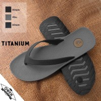Sandal Pria Distro Jepit Trendi Kekinian Original Murah Camou Titanium