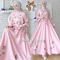 Baju Busana Muslim Gamis Wanita Terbaru Balotelly Bunga