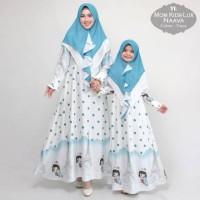 Baju Busana Gamis Couple Ibu Dan Anak Maxmara Lux Naava Terbaru