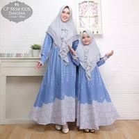 Baju Busana Muslim Gamis Couple Ibu Dan Anak Wanita Sakina Terbaru