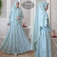 Baju Busana Muslim Gamis Wanita Terbaru Brukat Syari Tiara