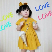 BUTTON DRESS KOREAN STYLE | Dress Casual Anak | Dress Casual Baby