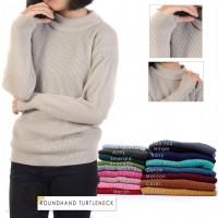 Sweater Rajut Wanita Roundhand Turtleneck Atasan Wanita Baju Rajut