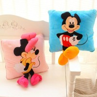 Boneka Original new 35cm Creative 3D Mickey Mouse and Minnie Mouse