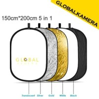 Portable Round Reflector 150 x 200cm 5 in 1