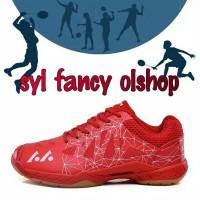 sepatu badminton red not yonex aerus 2 but original 100% Lefus merah