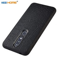 Case untuk Nokia 61 Plus Kezihome Mewah Buaya Tekstur Asli Kulit