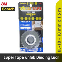 Double Tape 3M Super Strong Outside Wall Dinding Luar Scotch KB-10