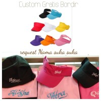 topi tenis golf custom gratis bordir twill khusus grosir