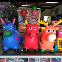 kuda karet animal jumping with sound mainan tunggang anak bahan TEBAL