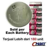 Maxell CR2016 3 Volt Coin Lithium Cell Battery - MXL-CR2016
