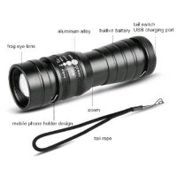 Jual Lampu Senter LED Telescopic Focus Cree XML-T6 Rechargea Diskon