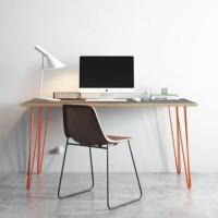 Meja Hairpin Meja Kerja Meja Kantor 85 x 50 - Putih