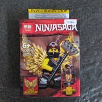 Lego Ninjago ninja hitam sayap emas bootleg kw murah