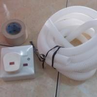 Paket 3in1 / stopkontak AC 1set + 1 Duck tape + 5m selang Drain AC