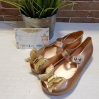 Sepatu Jelly Anak Replika Mini Melissa Kupu Emas/Sepatu Cinderela