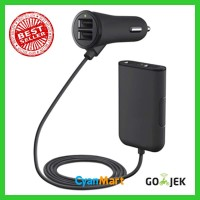 Charger Mobil / Adapter Car Charger 4 Port USB Road Rockstar