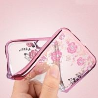 CASE SAMSUNG S10/S10 PLUS/S10 E 2019 SILICON FLOWER CASING ULTRA SOFT - GALAXY S10, ROSE GOLD