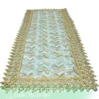 Taplak Meja Tamu Burkat Lace White import TBL331
